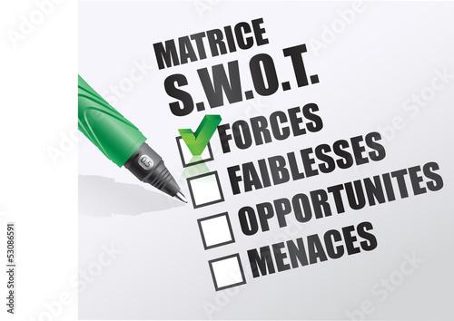 matrice / analyse SWOT