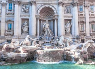 Closeup of Fontana di Trevi.