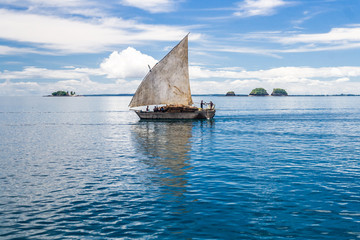 Traditional malagasy dhow