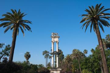 Monument to Columbus, Murillo gardens, Seville (Spain)