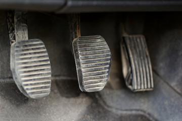 three car pedals