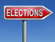 elections road sign arrow