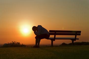 Sad at Sunset