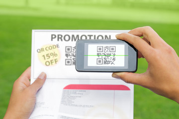 Qr code scanning, coupon discount