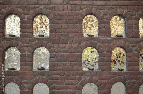 bricks and mirrors, a wall background