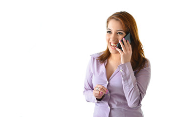 Happy Business Woman on Phone