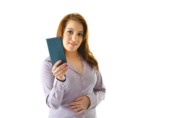 Woman with Checkbook for Personal Finances