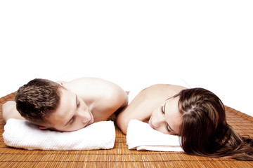 Couples retreat relaxing spa