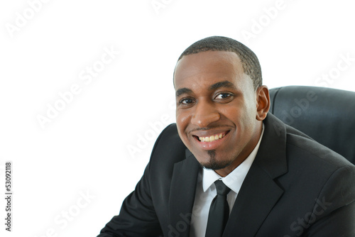 Businessman with laptop on Floor