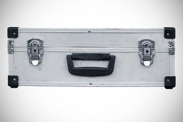 Used aluminum suitcase