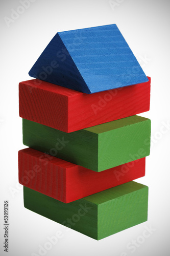 wooden blocks constriction