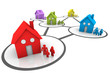homes and families connected neighborhoods - 53093307