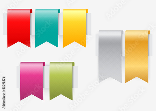 Ribbon set on white background