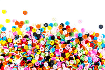 Colorful buttons,  Colorful  Clasper  on white background