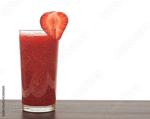glass of strawberry puree