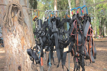 Climbing harnesses and rope - ready for fun!