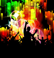 Nightclub. Dancing people