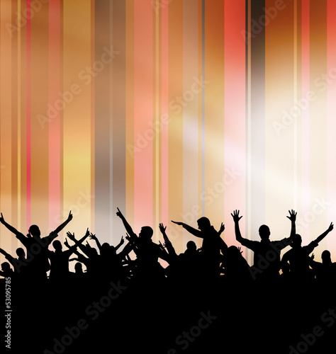 Dancing people. Party illustration