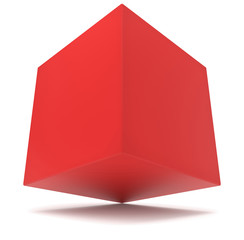cube 3d red