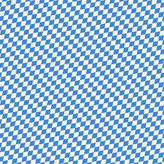 Seamless Pattern Octoberfest Blue/White Diagonal