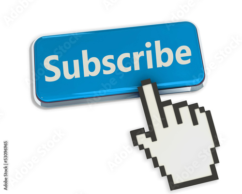 Hand cursor on Subscribe button