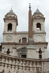 Church of Trinita' dei Monti (Spanish Steps) in Rome, Italy