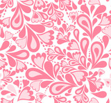 Seamless background pink splash pattern. Vector