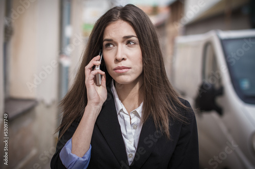 Businesswoman at monday morning
