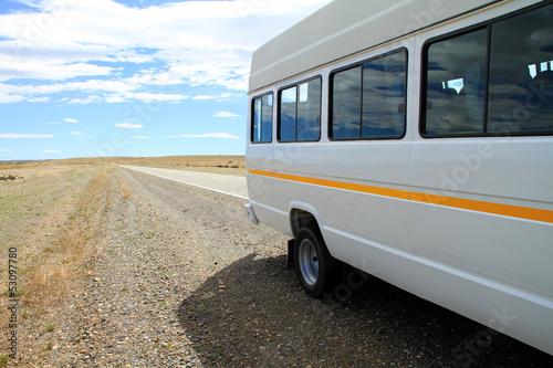 Minibus on Roadside