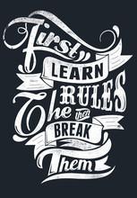 Apprenez les règles