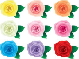 薔薇 葉 9色