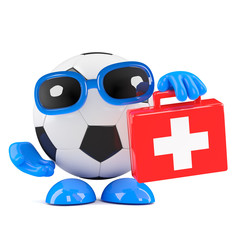3d Football is ready with first aid