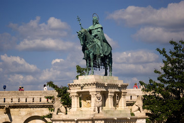 Saint Istvan, first king of Hungary, Budapest, Hungary
