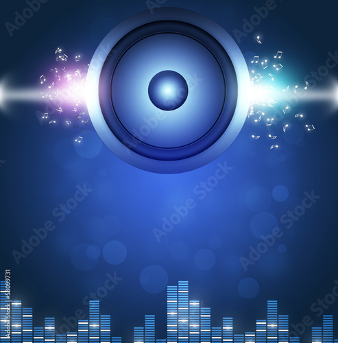 Blue Sound Speakerl Music Background