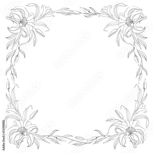Lily frame for invitations