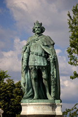 Louis the Great, King of Hungary (1342–82) on Heroes' Square, Bu