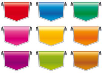 Frecce tridimensionali in 9 colori