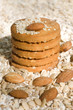 oatmeal cookies  with Fresh ingredients for them (oat flakes, nu