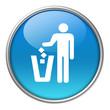 Bottone vetro gettare rifiuti