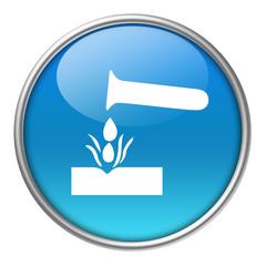Bottone vetro materiale corrosivo