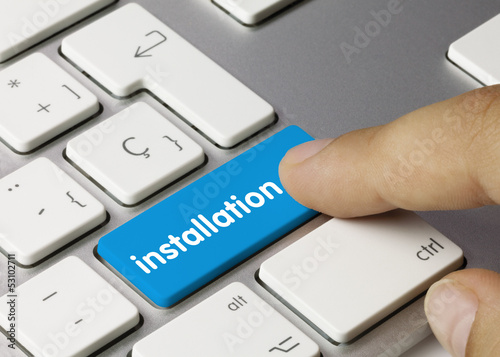 installation keyboard key