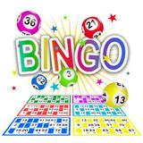 Bingo multicolore avec grilles