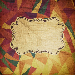 Retro grunge circus background