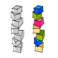 hand drawing geometric shape