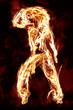 tanzende Frau aus Feuer