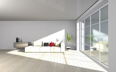 modern living room - interior architecture