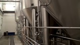 Modern Craft Brewery. Steel fermentation vessels.