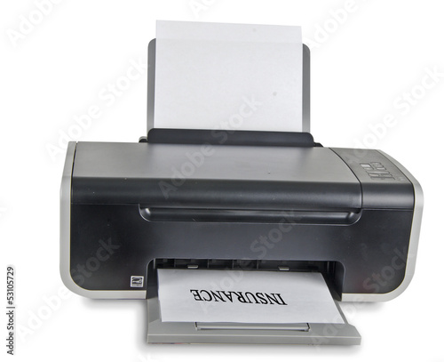 Printer isolated on white background
