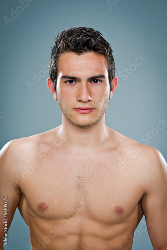 Young Man with Nude Torso