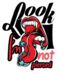 Look I am not pierced